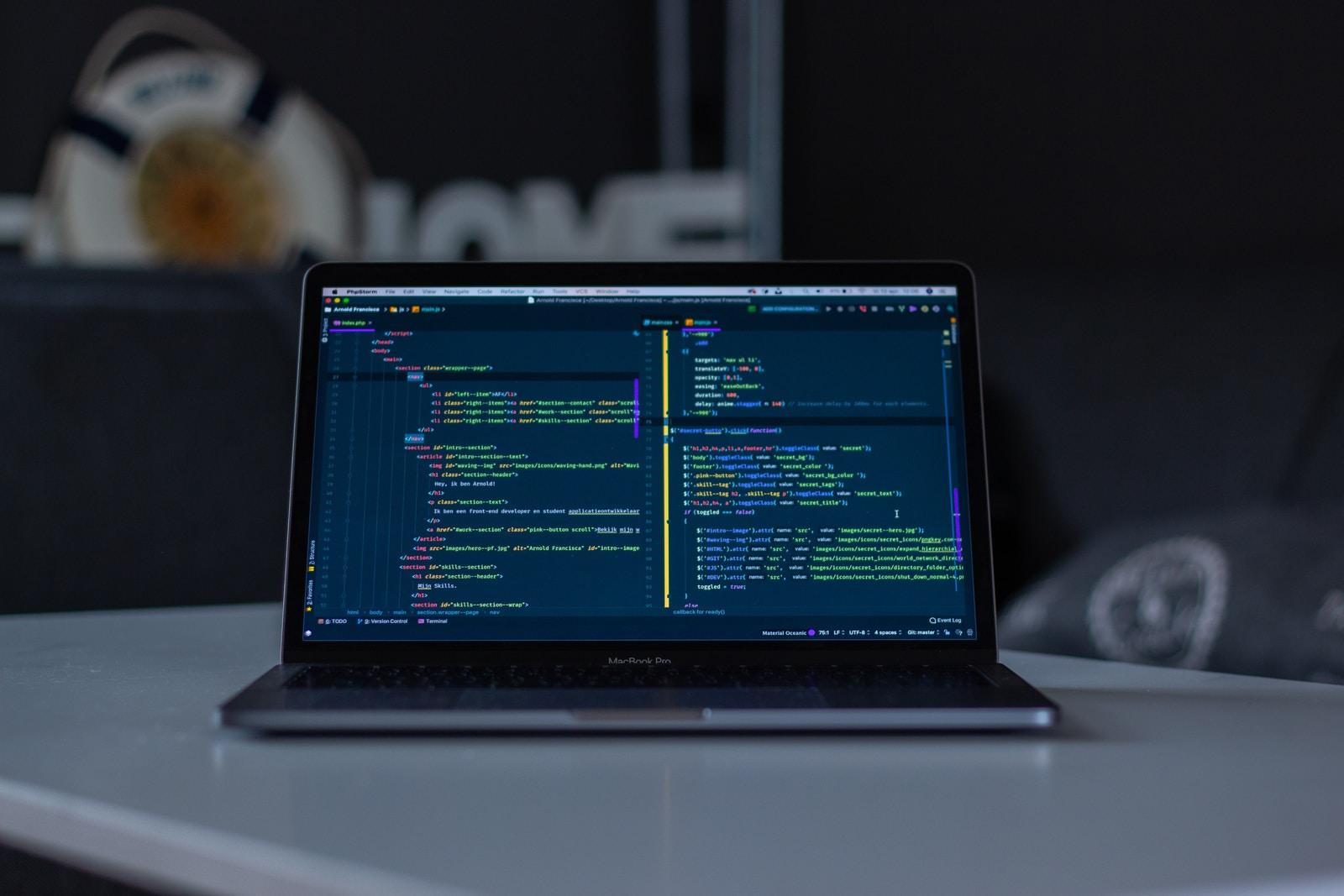 complex web app code